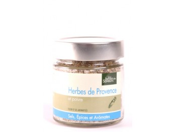 Fleur et sel de Camargue aux herbes de provence et au poivre