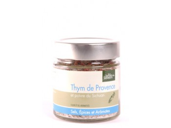 Fleur et sel de Camargue au thym et au poivre de Sichuan