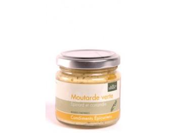Moutarde verte aux épinards et coriandre
