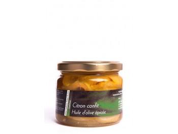 Citrons confits, huile d'olive et épices