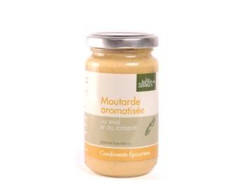 Moutarde aromatisée au miel et au romarin