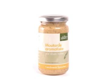 Moutarde aromatisée aux olives noires