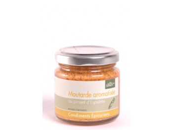 Moutarde aromatisée au piment d'Espelette