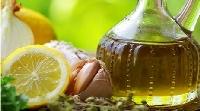 huile avec citron et échalottes