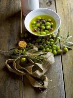 Huile d'olive et brin de laurier